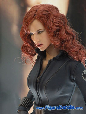 Iron Man 2 Black Widow Action Figure Close Up 6