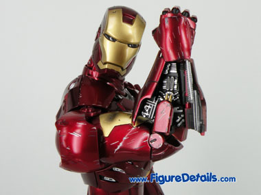 Hot Toys Iron Man Mark 3 Battle Damaged Wrist Gauntlet 2