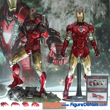 Hot Toys Iron Man Mark VI Action Figure Iron Man 2 MMS132