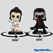 Rey and Kylo Ren Cosbaby cosb688 - Star Wars - The Rise of Skywalker - Hot Toys