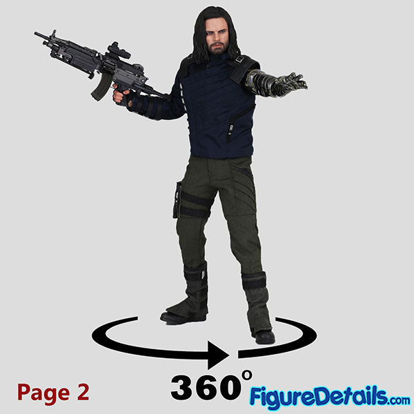Hot Toys Winter Soldier with Machine Gun Review - Avengers Infinity War - mms509