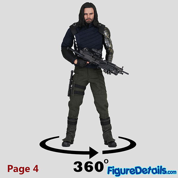 Hot Toys Winter Soldier with Machine Gun Review - Avengers Infinity War - mms509 19