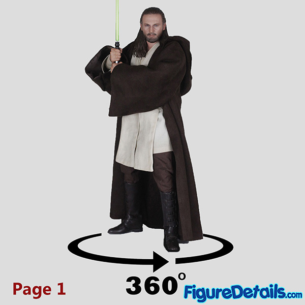 Hot Toys Qui-Gon Jinn Rest Position Review 7