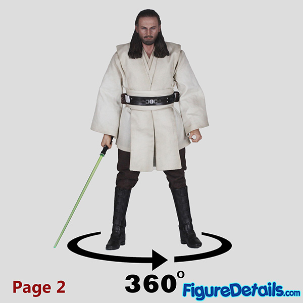 Hot Toys Qui-Gon Jinn Rest Position Review 8