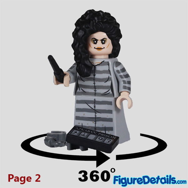 Lego Bellatrix Lestrange Minifigure with wicked smile face Review - Lego Collectible Minifigures Harry Potter Series 2