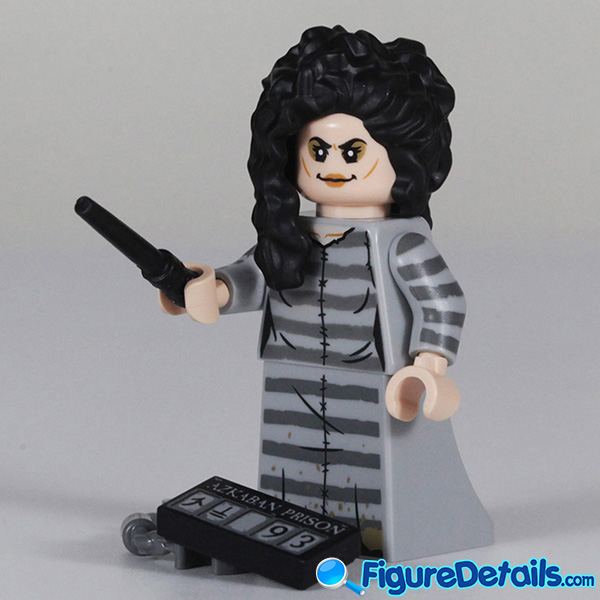 Lego Bellatrix Lestrange Minifigure with wicked smile face Review - Lego Collectible Minifigures Harry Potter Series 2 3