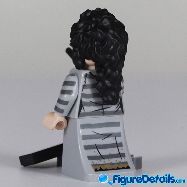 Lego Bellatrix Lestrange Minifigure with wicked smile face Review - Lego Collectible Minifigures Harry Potter Series 2 4