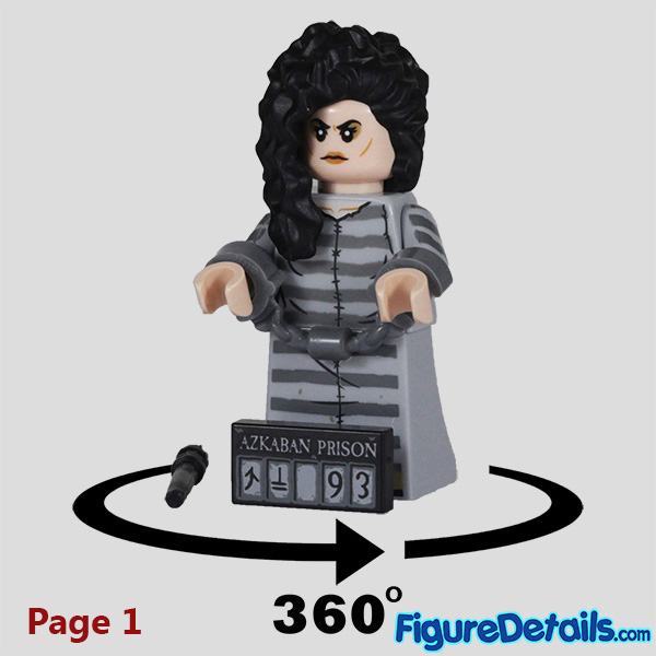 Lego Bellatrix Lestrange Minifigure with wicked smile face Review - Lego Collectible Minifigures Harry Potter Series 2 7