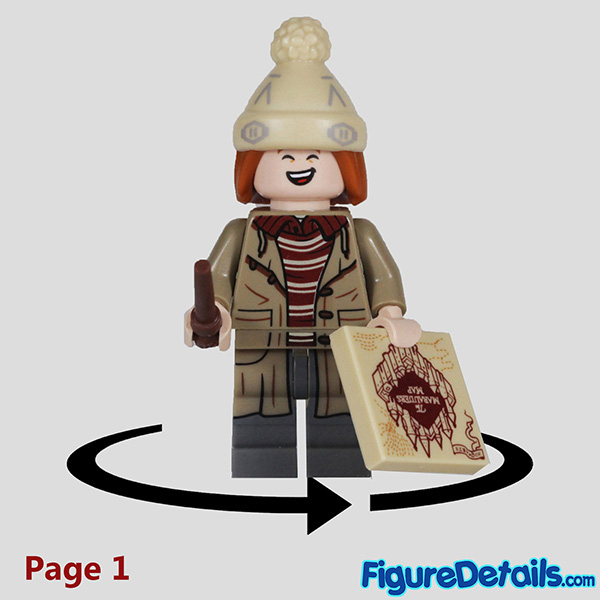 Lego George Weasley Minifigure with laugh face Review - Lego Collectible Minifigures Harry Potter Series 2 7