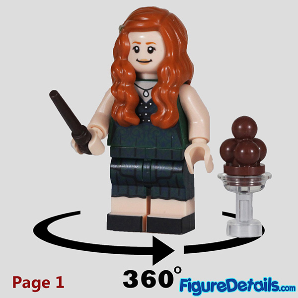 Lego Ginny Weasley Minifigure with Smirk face Review - Lego Collectible Minifigures Harry Potter Series 2 7