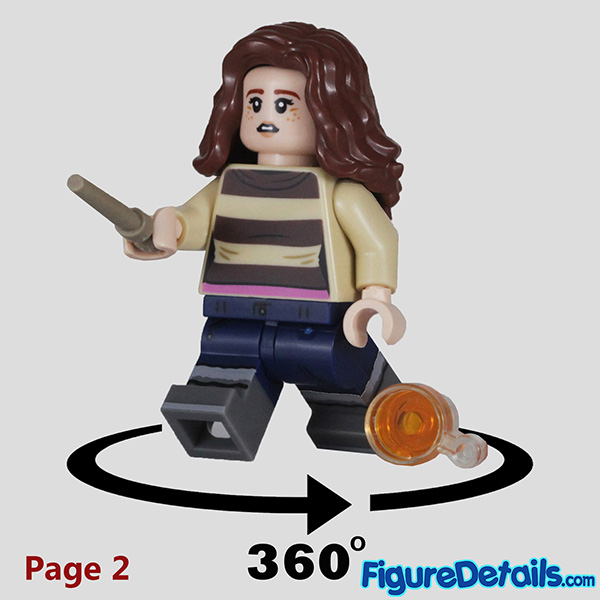 Lego Hermione Granger with startled face Minifigure Review - Lego Collectible Minifigures Harry Potter Series 2