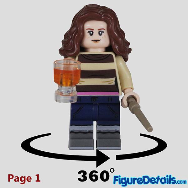 Lego Hermione Granger with startled face Minifigure Review - Lego Collectible Minifigures Harry Potter Series 2 7
