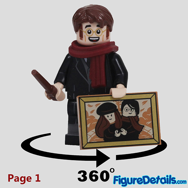 Lego James Potter Minifigure with smile face Review - Lego Collectible Minifigures Harry Potter Series 2 7