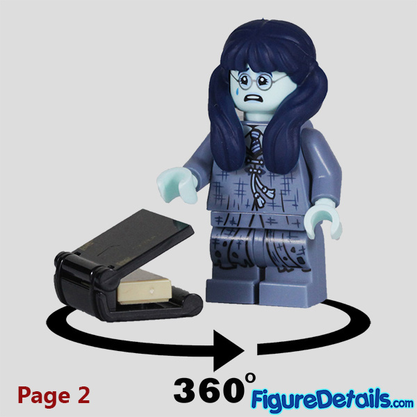 Lego Moaning Myrtle Minifigure with cry face Review - Lego Collectible Minifigures Harry Potter Series 2