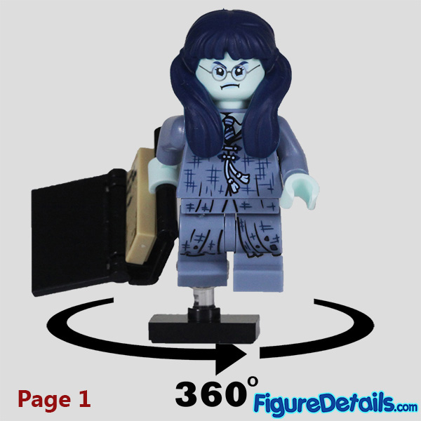 Lego Moaning Myrtle Minifigure with cry face Review - Lego Collectible Minifigures Harry Potter Series 2 7