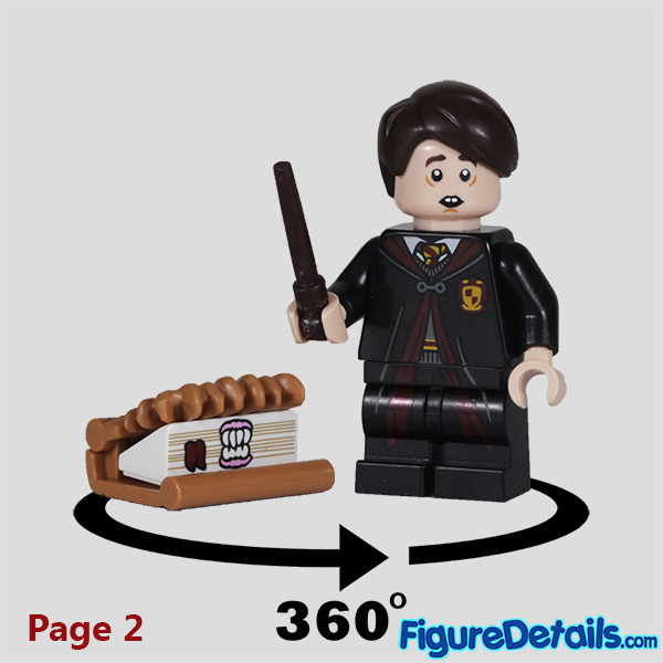 Lego Neville Longbottom Minifigure with frown face Review - Lego Collectible Minifigures Harry Potter Series 2