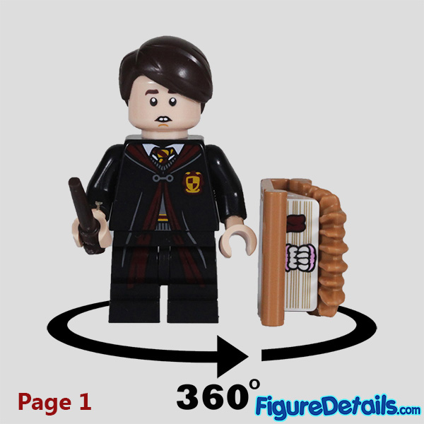 Lego Neville Longbottom Minifigure with frown face Review - Lego Collectible Minifigures Harry Potter Series 2 7