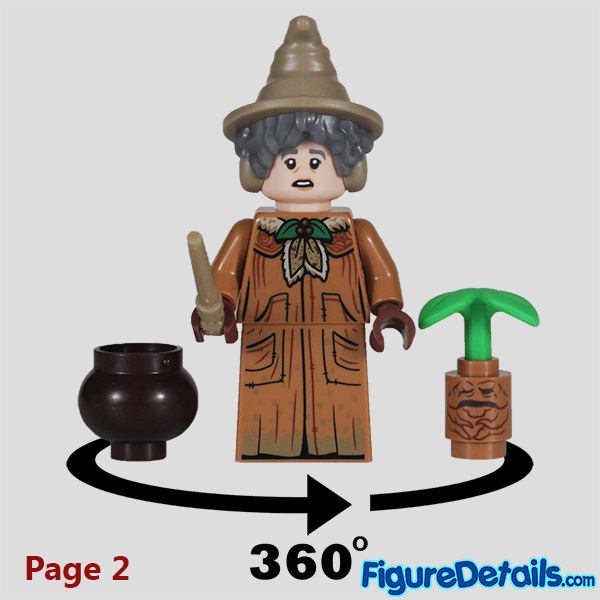 Lego Professor Sprout Minifigure with frown face Review - Lego Collectible Minifigures Harry Potter Series 2