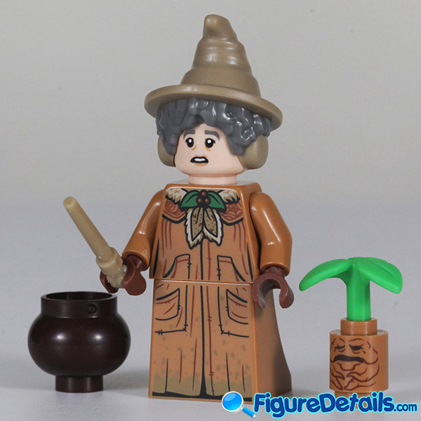 Lego Professor Sprout Minifigure with frown face Review - Lego Collectible Minifigures Harry Potter Series 2 3