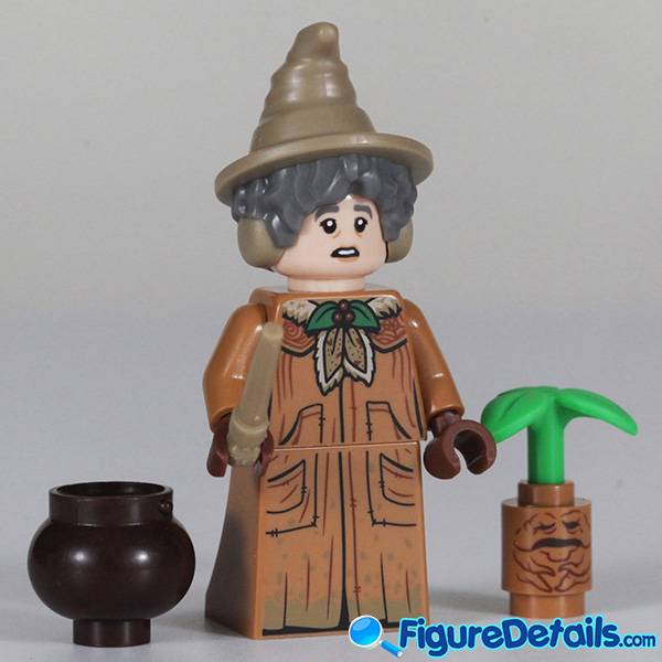 Lego Professor Sprout Minifigure with frown face Review - Lego Collectible Minifigures Harry Potter Series 2 6