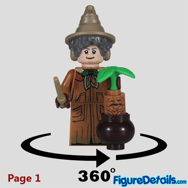 Lego Professor Sprout Minifigure with frown face Review - Lego Collectible Minifigures Harry Potter Series 2 7