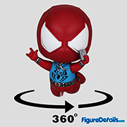 Scarlet Spider Suit Spiderman Cosbaby - Marvel Spiderman Game - Hot Toys